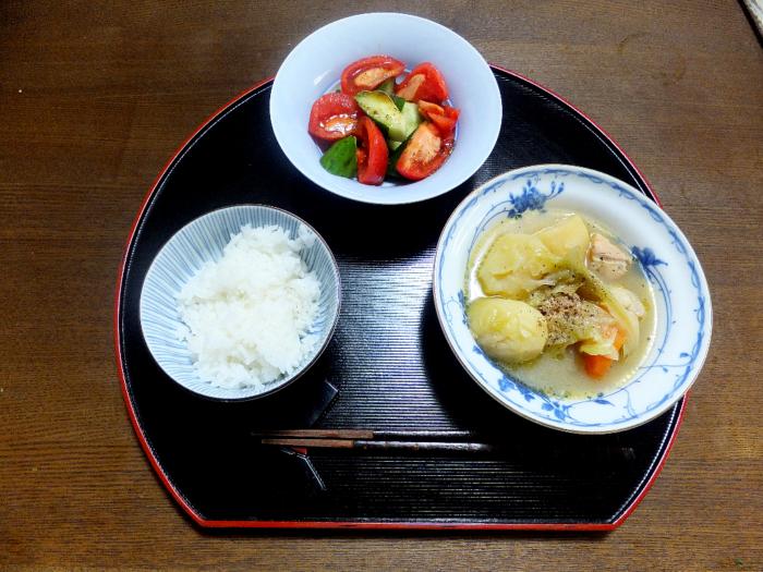 ポトフとトマトきゅうり