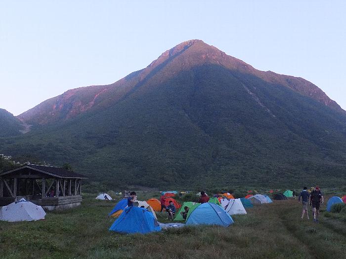 三俣山のモルゲンロート