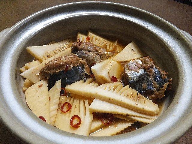 筍とサバ缶の煮物