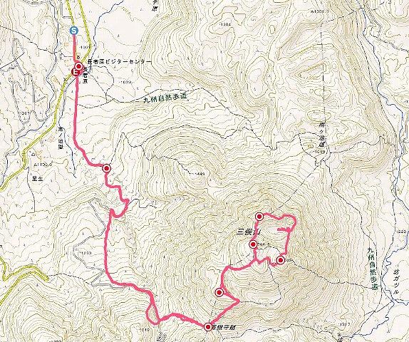 三俣山コース図