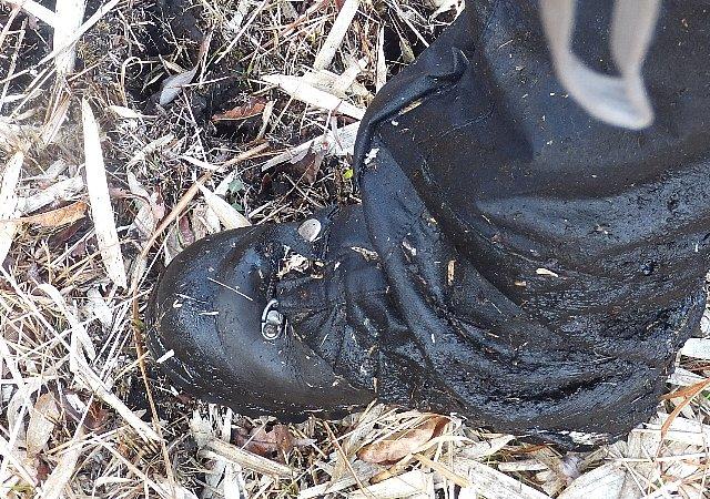 泥だけのスパッツ