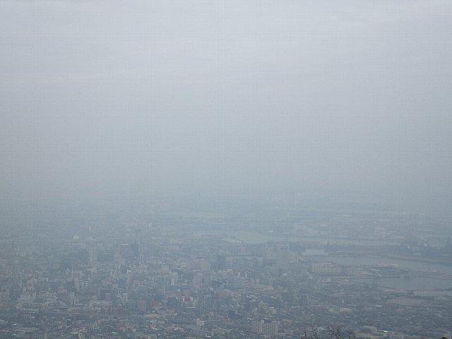 PM2.5がかすんだ展望