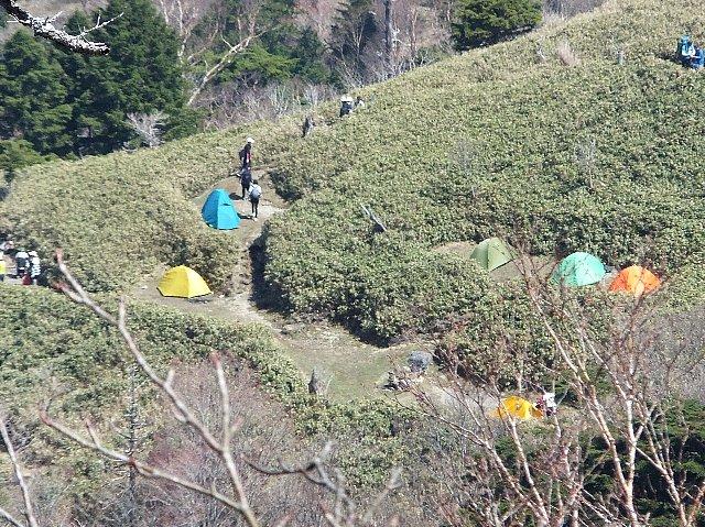 剣山 西島野営場