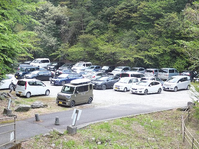 西赤石山 東平臨時駐車場