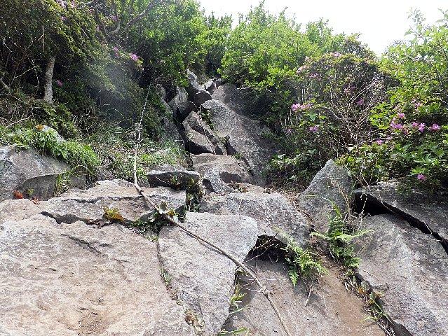平治岳 岩場