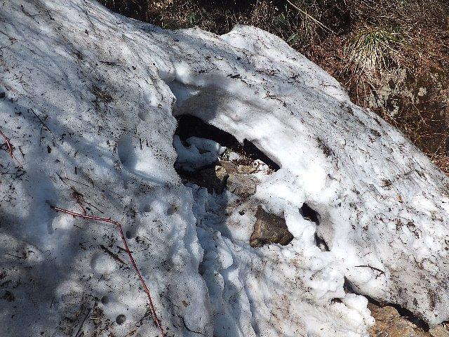 石鎚山の小雪渓