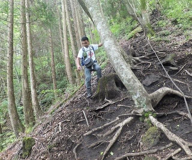 吉部登山口の急坂