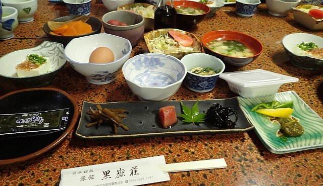 黒嶽荘の朝食