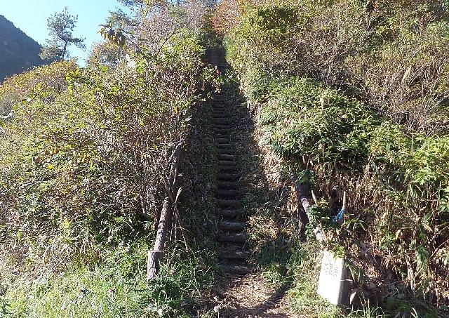 地蔵峠への登山道