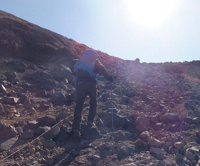 久住山の登り