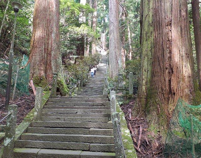 室生寺の石段