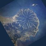 国東半島の衛星写真