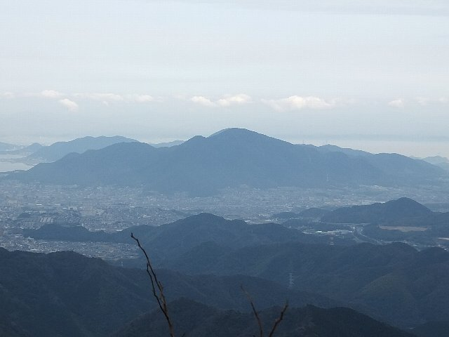 足立山遠景