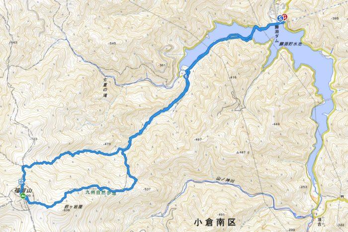山行軌跡図(福智山)