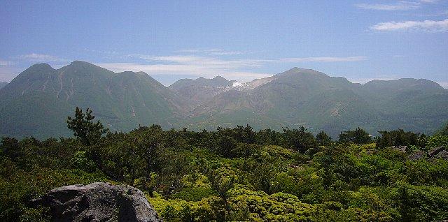 黒岩山から望むくじゅう連山