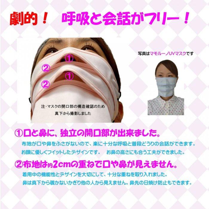呼吸が楽なマスク「マモルーノ」の特長