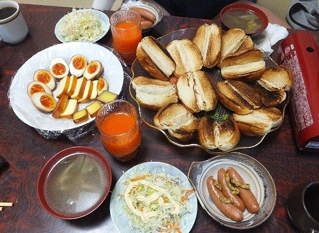 山宿の朝食