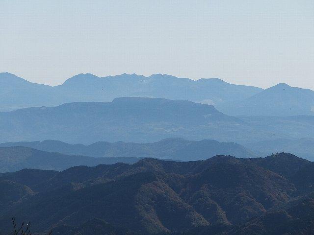 英彦山から遠望するくじゅう連山
