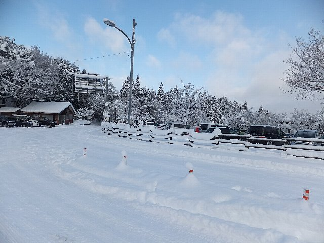 雪の別所駐車場 英彦山