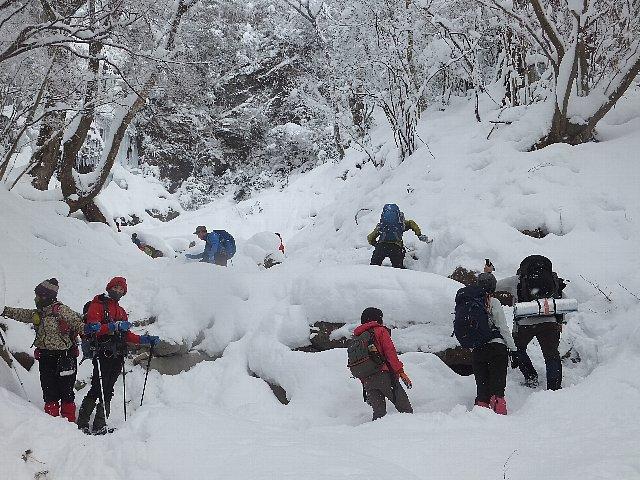雪景色の英彦山