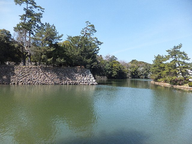 松江城の内堀