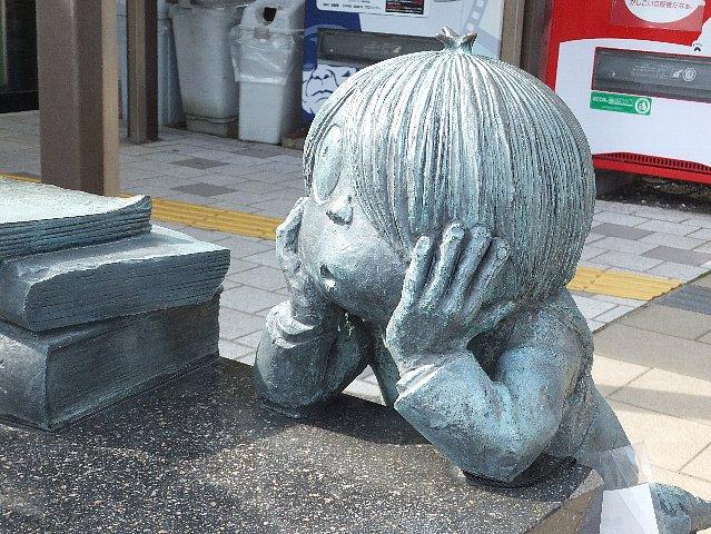 JR境港駅前の「ゲゲゲの鬼太郎」像