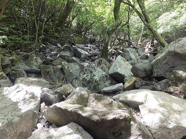男池~大戸越の登山道崩壊