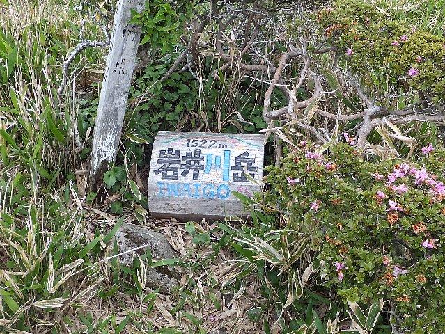 岩井川岳山頂標識