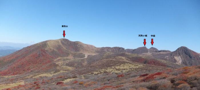 くじゅう連山 中岳 星生山